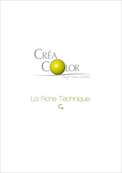 La fiche technique Créa color